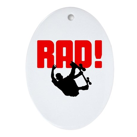 Rad Skater Oval Ornament
