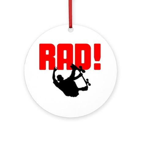 Rad Skater Ornament (Round)