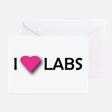 I LUV LABS Greeting Cards (Pk of 10)
