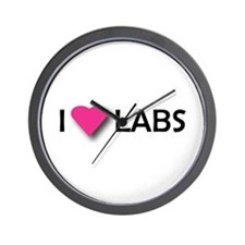 I LUV LABS Wall Clock