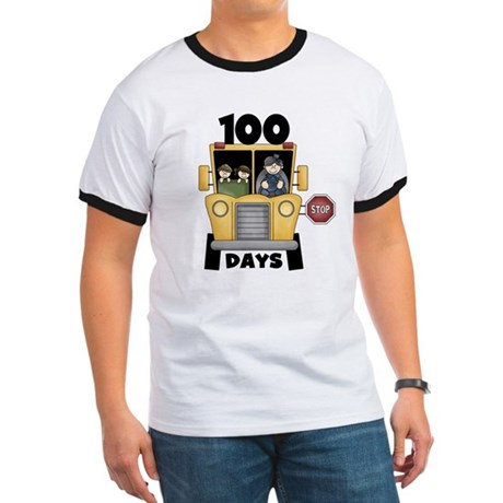 School Bus 100 Days Ringer T