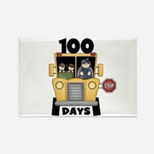 School Bus 100 Days Rectangle Magnet