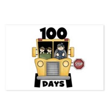 School Bus 100 Days Postcards (Package of 8)