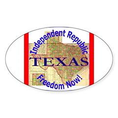 Texas-3 Oval Decal