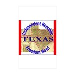Texas-3 Rectangle Sticker 10 pk)
