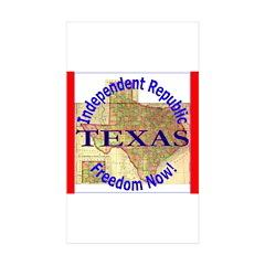 Texas-3 Rectangle Sticker 10 pk)