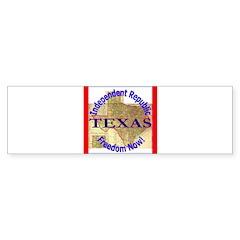 Texas-3 Bumper Sticker (10 pk)