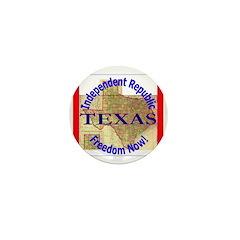 Texas-3 Mini Button