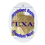 Texas-3 Oval Ornament