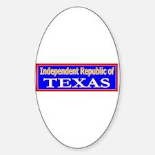 Texas-2 Oval Decal