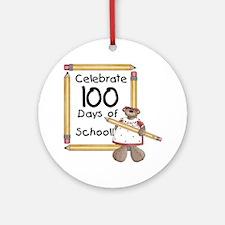 Bear 100 Days Ornament (Round)
