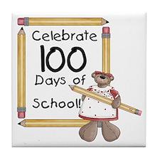Bear 100 Days Tile Coaster
