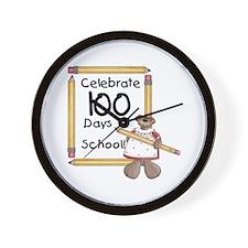 Bear 100 Days Wall Clock