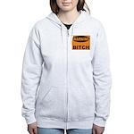 Bitch Warning Women's Zip Hoodie