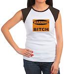 Bitch Warning Women's Cap Sleeve T-Shirt