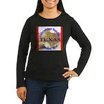 Texas-3 Women's Long Sleeve Dark T-Shirt