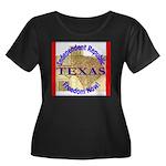 Texas-3 Women's Plus Size Scoop Neck Dark T-Shirt