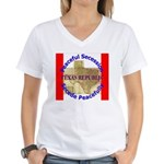 Texas-1 Women's V-Neck T-Shirt