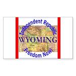 Wyoming-3 Rectangle Sticker 10 pk)