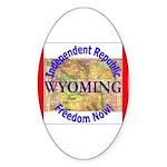 Wyoming-3 Oval Sticker