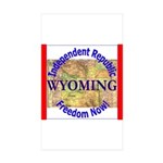 Wyoming-3 Rectangle Sticker 50 pk)