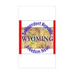 Wyoming-3 Rectangle Sticker