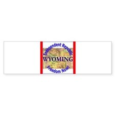Wyoming-3 Bumper Bumper Sticker