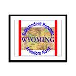 Wyoming-3 Framed Panel Print