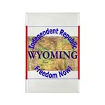 Wyoming-3 Rectangle Magnet (10 pack)