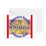 Wyoming-3 Greeting Cards (Pk of 10)