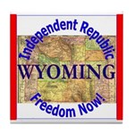 Wyoming-3 Tile Coaster