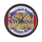 Wyoming-3 Large Wall Clock