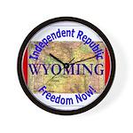 Wyoming-3 Wall Clock