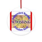 Wyoming-3 Ornament (Round)