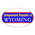 Wyoming-2 Oval Sticker (10 pk)