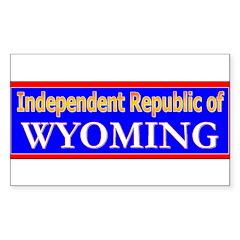 Wyoming-2 Rectangle Sticker 10 pk)