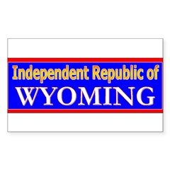 Wyoming-2 Rectangle Decal