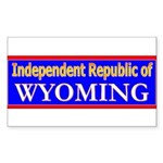 Wyoming-2 Rectangle Sticker