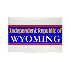 Wyoming-2 Rectangle Magnet (100 pack)