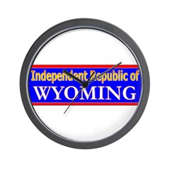 Wyoming-2 Wall Clock