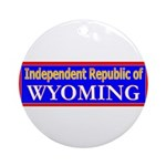 Wyoming-2 Ornament (Round)