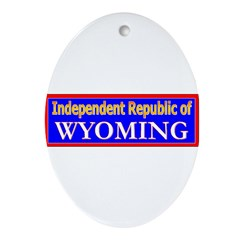 Wyoming-2 Oval Ornament