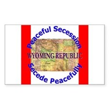 Wyoming-1 Rectangle Decal