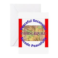 Wyoming-1 Greeting Cards (Pk of 10)