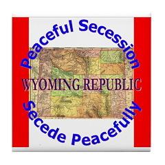 Wyoming-1 Tile Coaster