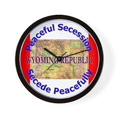 Wyoming-1 Wall Clock
