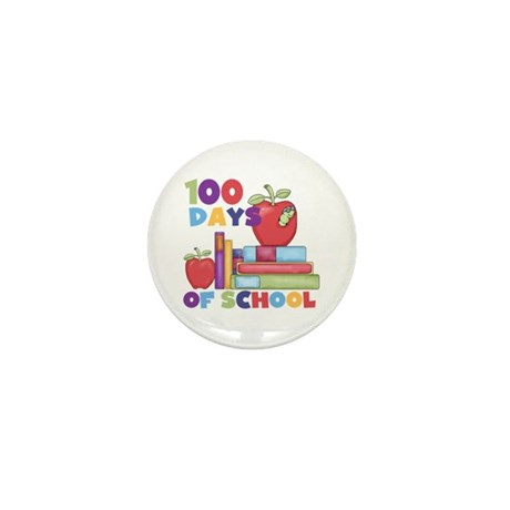 Books 100 Days of School Mini Button