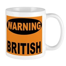 British Warning Small Mug