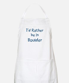 Rather be in Boulder BBQ Apron