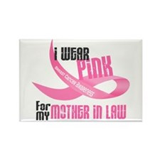 I Wear Pink For My Mother-In-Law 33 Rectangle Magn